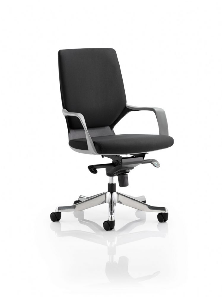 Xenon Executive Black Shell Chair Medium Backrest Arms Both Fabric & Leather Options available